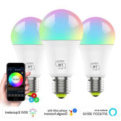 wifi smart light bulb dimmable multicolor no