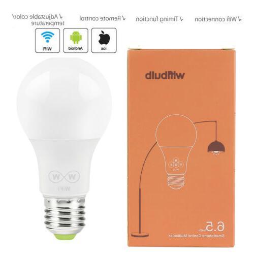 wifi smart light bulb wake up lights