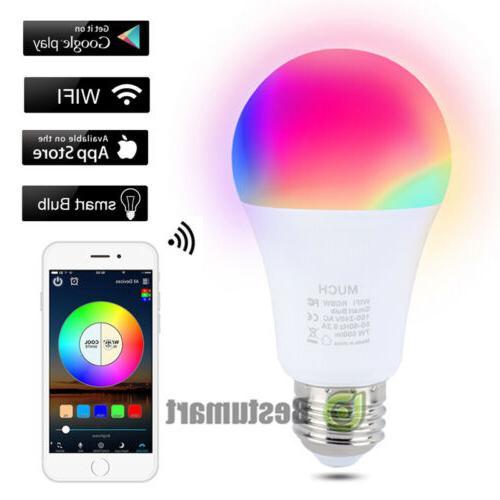 wifi smart light bulbs multi color led