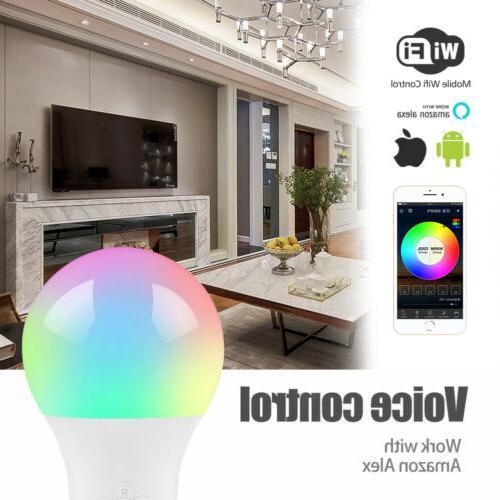 Wifi-Smart-Multi-Color-LED-Light-Bulb-Fr-Amazon-Alexa-Google-Home-App-Remote-Bar