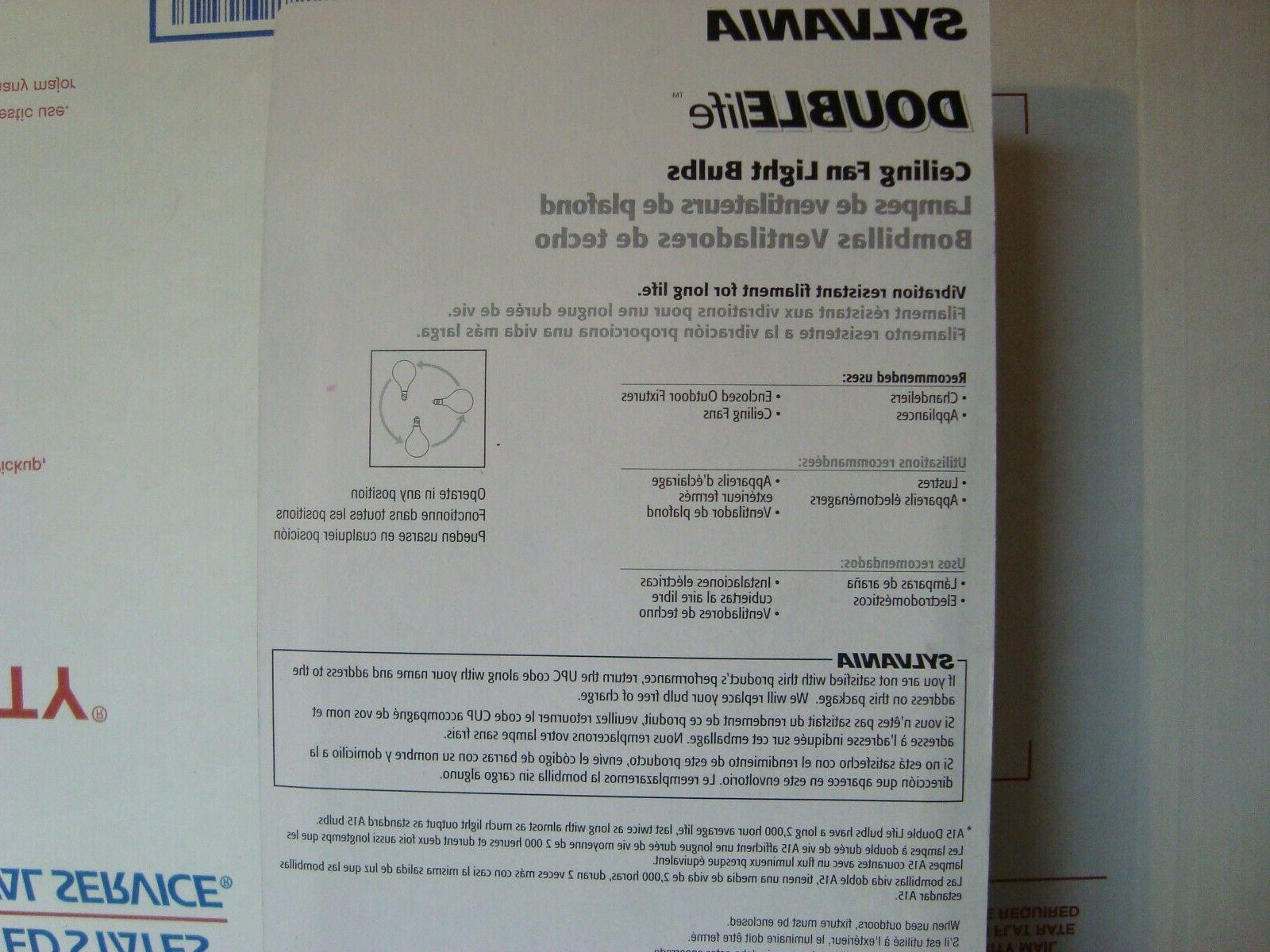 3x SYLVANIA A15 2x Life Small Socket 4-Pk Appliance/Fans