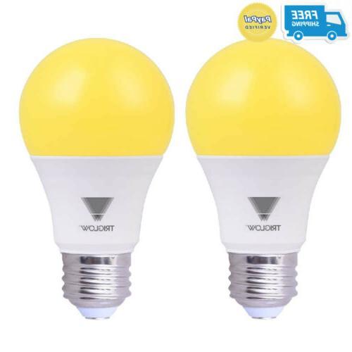 yellow a19 light bulb bug