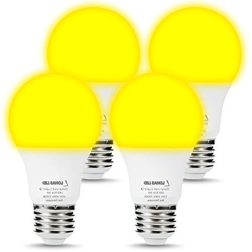 yellow bug light bulbs night
