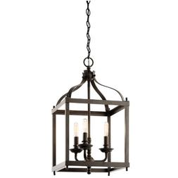 Kichler 42566OZ Larkin Indoor Pendant 3-Light, Olde Bronze