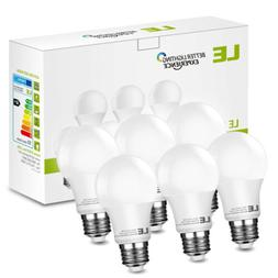 6 x Dimmable A19 LED Light Bulbs 60W Equivalent 2700K Warm W