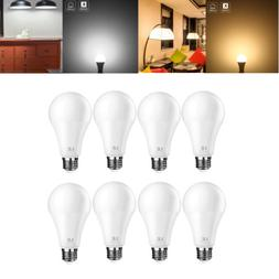 LE A21 Dimmable LED Bulbs, 14W  5000K/2700K, 1400LM 8-Pack