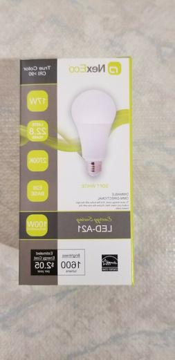 NexEco LED 100W/17W Light Bulbs! Dimmable, 1600 Lumens ,2700