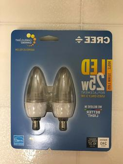 CREE LED 25W = 3.1W Soft White DIMMABLE 25 Watt Equivalent 2