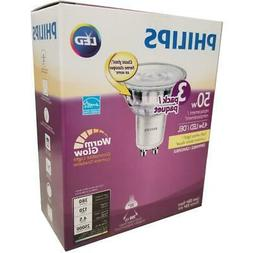 PHILIPS LED 50W Equiv. GU10 Warm Glow Indoor Flood Bulb, 270