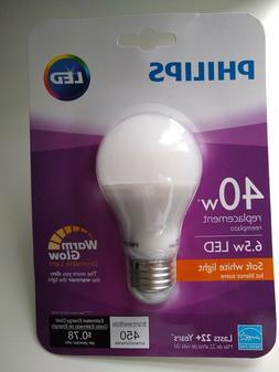 Philips LED 6.5 Watt / 40W Dimmable STANDARD Light Bulbs War