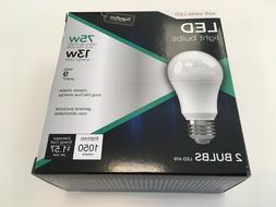 LED 75W Soft White Light Bulbs A19  1050 Lumens 2700K Signat