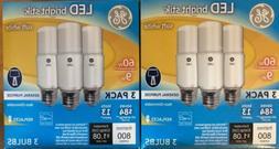 GE LED Bright Stik 3 PACK 9w 60W X 2! Soft White  Light Bulb