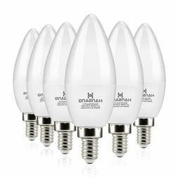 Hansang LED Candelabra Bulbs 6 Watt 60 Watt EquivalentDaylig