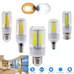 LED Corn COB Light Bulbs E26 E27 E14 E12 B22 12W 16W Bright