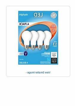 GE LED Daylight 4 pack Light bulbs LED A19 Long Life/Low Ene