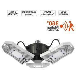 led deformable garage light radar motion ceiling