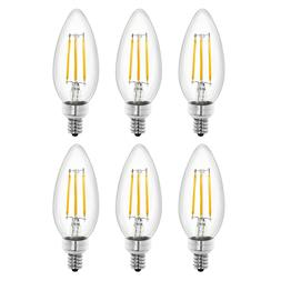 Tenergy LED Dimmable Candelabra Bulbs 4W Soft White  E12 Can