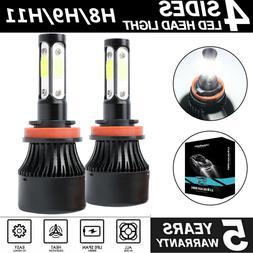 LED Headlight Kit H11 H8 H9 6000K White Fog Light Bulbs Brig