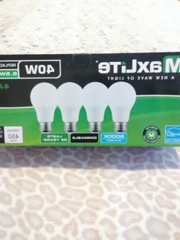 4 PK. LED MAXLITE  Light bulbs   5.5W LED Same As 40W Dimmab