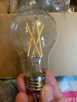 LED Light Bulb A19 60 Watt Clear, Soft White, Dimmable 24 Bu