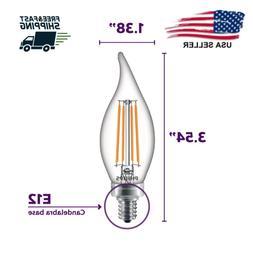 LED Light Bulb Bent Tip Candle 60 Watt Equivalent B11 Dimmab