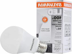 SYLVANIA LED LIGHT BULB BRIGHT WHITE 14W 3500K A19 NON DIMMA
