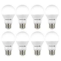 8-Pack EcoSmart 60W Equiv A19 Non-Dimmable LED Light Bulb So