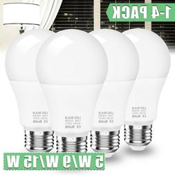 LED Light Bulbs 150W/90W/50W Equivalent E26 E27 A19 Lamp Day
