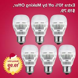 SANSI LED Light Bulbs 3000K Soft Warm White 800lm 8W 6Pack A