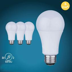 LED Light Bulbs 4 Pack 100W 1600LM Non-dimmable 5000K Daylig
