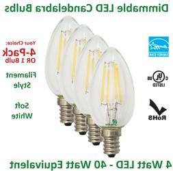 LED Light Bulbs 40W Watt Equivalent 4W C12 E12 B10 Dimmable