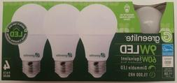 Greenlite LED Light Bulbs 9W 60W Equivalent Dimmable Super L