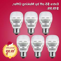 SANSI LED Light Bulbs Daylight 6-Pack A15 E26 800lm 8W 5000K