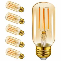 Emotionlite Led Light Bulbs, E26 Dimmable Vintage Edison Tub