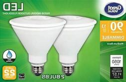 GREAT VALUE LED Light Bulbs Floodlight 90w Equiv Wet Rated P