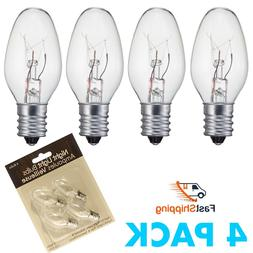 Night Light Bulbs Nite Lite Bulbs Candelabra Bulb E12 4 PACK