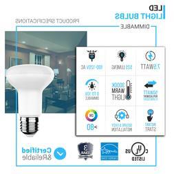 LED R20/BR20 Light Bulbs-5000K - Day Light White-7.5Watts-50