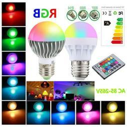 LED RGB 16 Color Changing Magic Lamp Light Bulb + IR Remote