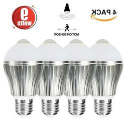 LED Sensor Lights Bulb Dusk to Dawn Smart Lighting Lamp 9W E