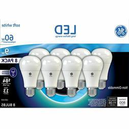 GE LED Soft White Bulb A19 60W A19 White 8 Pack - GE LED Lig