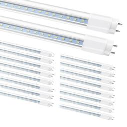 LED Tube Light Bulbs 4FT G13 Bi-Pin 22W 6000K 360 Degrees Pl