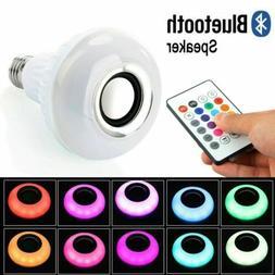 LED Wireless Bluetooth Bulb Light Speaker E27 RGB Smart Musi