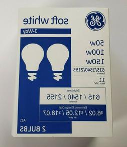 SYLVANIA Double Life, 3 Way Light Bulb 50/100/150 W/Watt, A2