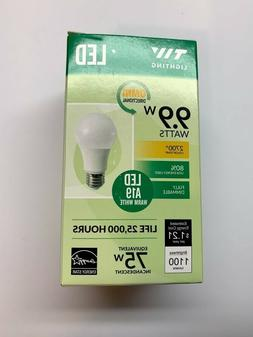 Light Bulb A19 LED - 1100 Lumens - 2700k Pack of Three Bulbs