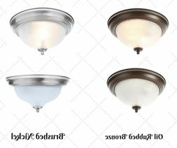 Light Bulb Dimmable Ceiling Fixture Glass Lighting Flush Mou