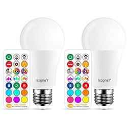 Yangcsl LED Light Bulb 75W Equivalent, RGB Color Changing Li