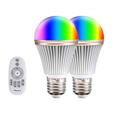 Color Led Light Bulb Aomilai Multicolor 9W RGB Bulb Light wi