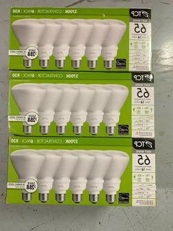 light bulbs tcp 2700k contractor 3 x 6 pack R30