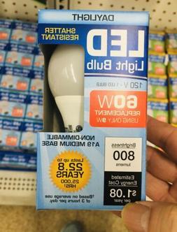 LED LIGHT BULBS 60 WATT SHATTER RESISTANT ENERGY SAVING DAYL