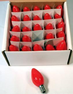 Creative Hobbies Box of 25 Light Bulbs, Ceramic Opaque Red,